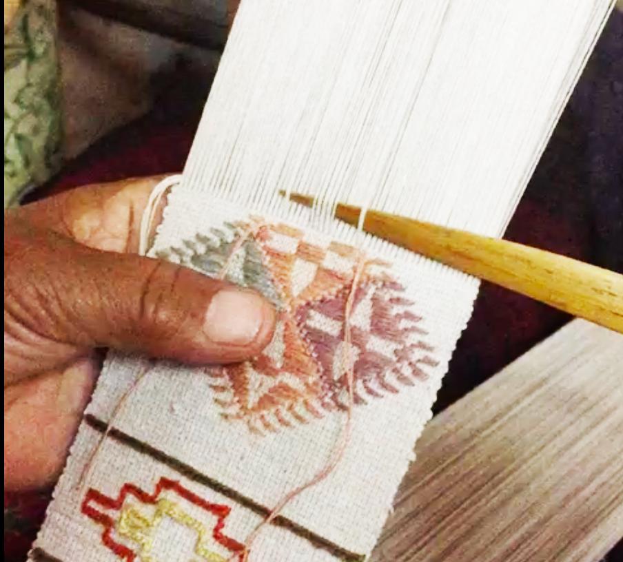 ブータンのカード織り
