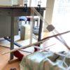 机をブータンの機織り機にする Bhutanese loom made of a desk