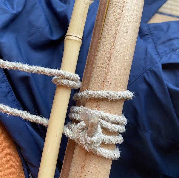 代用の棒を固定