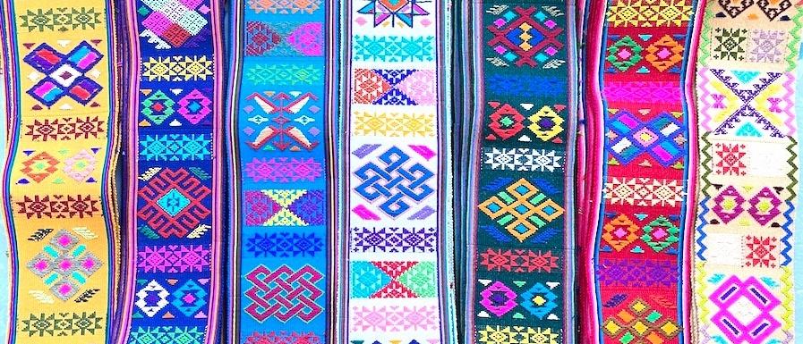 ブータンのカード織りの帯