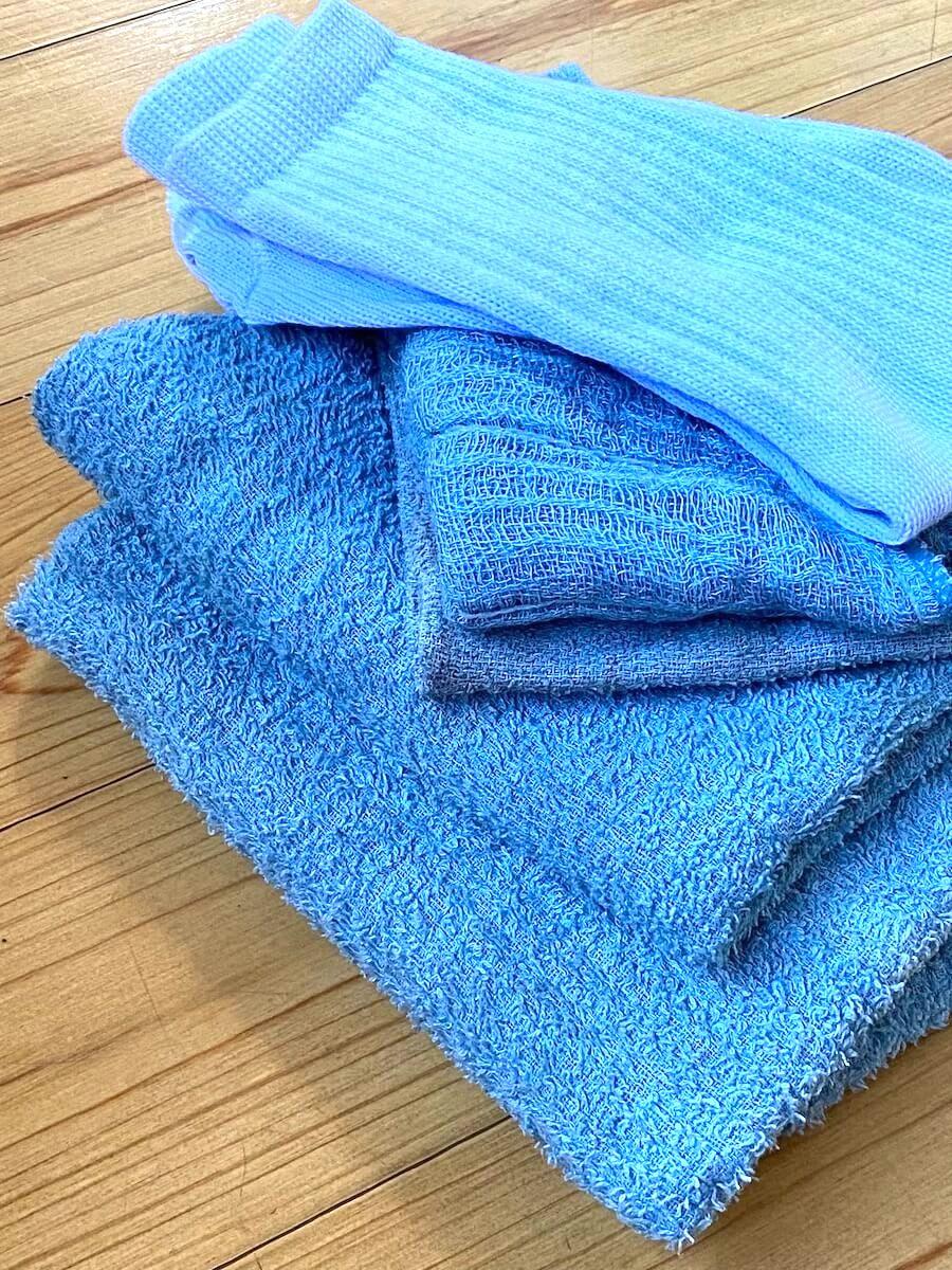 藍染タオル