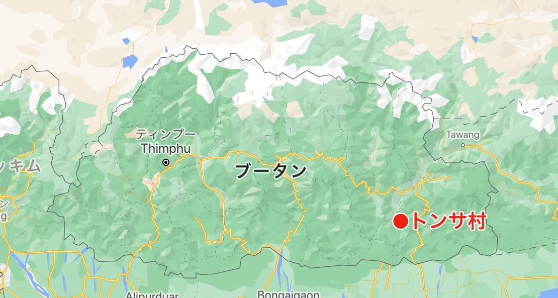 トンサ村の位置