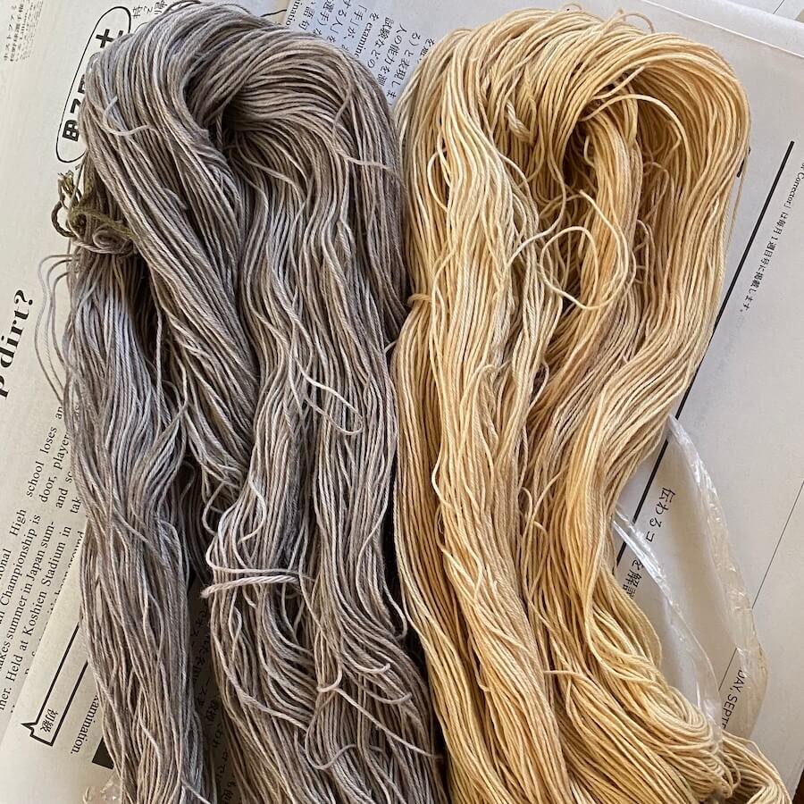 染め上がった糸