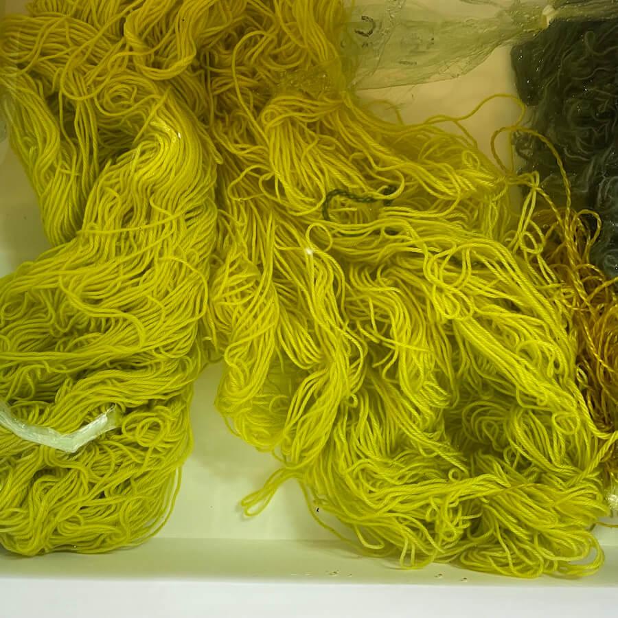 黄色をかける